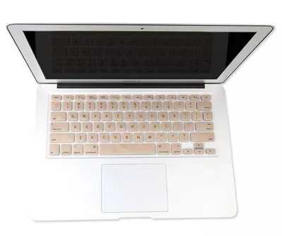 Новый мягкий золотой для Macbook Air 11 13 Клавиатура пленка Защитная крышка для Mac Pro retina 13 15 Новый 12 дюйм чехол для клавиатуры