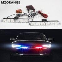 لاسلكي عن 12 فولت سيارة 2 * 6led ضوء ستروب أضواء تحذير الشرطة الإسعاف يوم ضوء الطوارئ اللمعان ضوء العمل السوبر مشرق