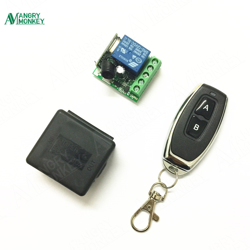 433Mhz Universal Wireless Remote Control Switch DC 12V 1CH relay Receiver Module and RF Transmitter 433 Mhz Remote Controls 1527 clear white water resistance vacuum equipment suction cup sucker