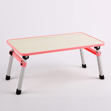 Creative notebook computer desk fold standing desk bed lazy table simple camping table bai ze concise bedside computer table simple and easy benchtop household notebook computer table fold bed small desk ru