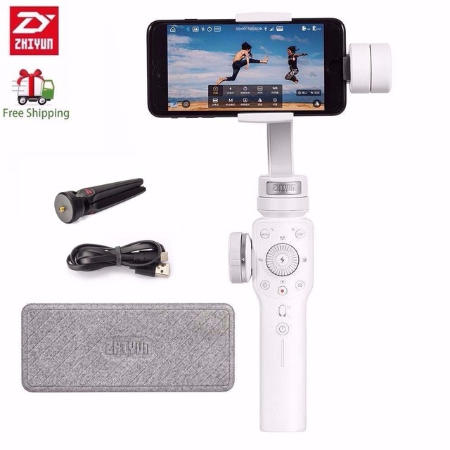 Zhiyun Smooth 4 3 axis Stabilizer Phone Action Camera Handheld Gimbal for iPhone Samsung S8 Galaxy S9 plus Mobile Smartphone