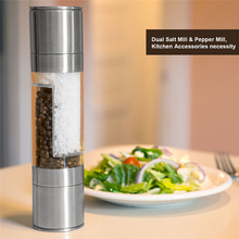 TTLIFE High Quality Cooking Tools 2 IN 1 Spice Salt & Pepper Mill Premium Shaker Herb Grinder Tool