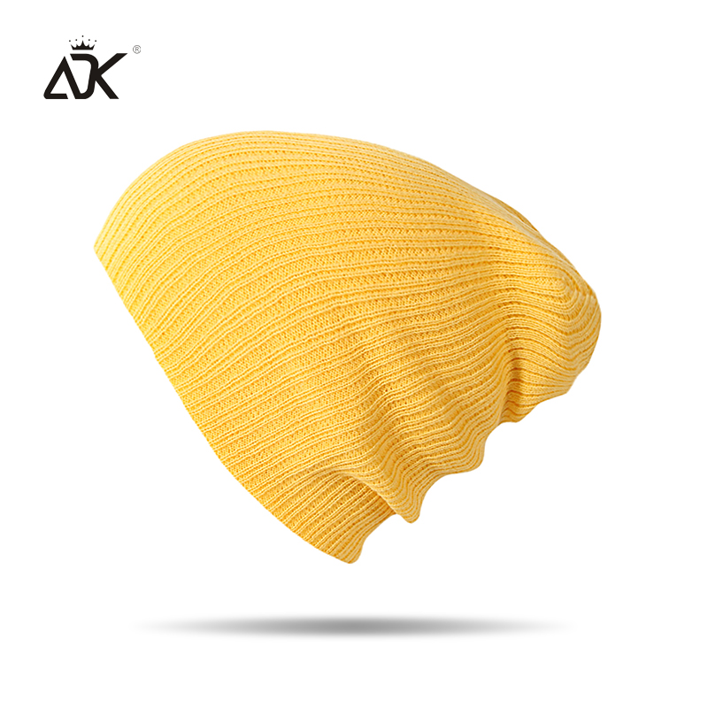 Autumn Winter   Beanie   Men Women Hats   Beanies   Solid Color Warm Stocking Hat For Ladies Striped Knitted Hat