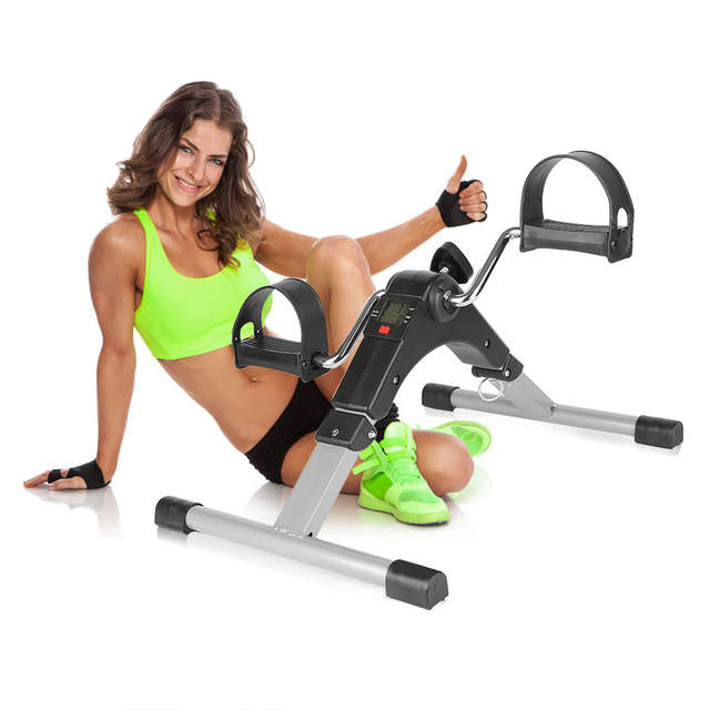 US $12 68 24% OFF|Portable Stepper Treadmill Cardio Fitness Steppers Leg  Machine Home Gym Exercise Mini Spinning Bike Slimming Fat Burning HWC-in