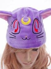 Аниме сейлор мун кристалл луна артемида фиолетовый косплей Cap Hat