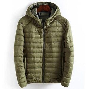 Image 1 - ฤดูหนาวชายเสื้อHooded Casualน้ำหนักเบาอุ่นฝ้ายพื้นฐานแจ็คเก็ตOutwearบุรุษเสื้อWindbreakerเสื้อผ้าใหม่