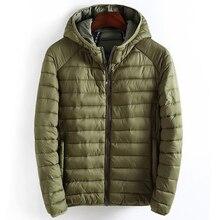 Kış ceket erkek kapşonlu Casual basit hafif sıcak pamuk yastıklı temelleri ceketler erkek dış giyim rüzgarlık mont yeni giysiler