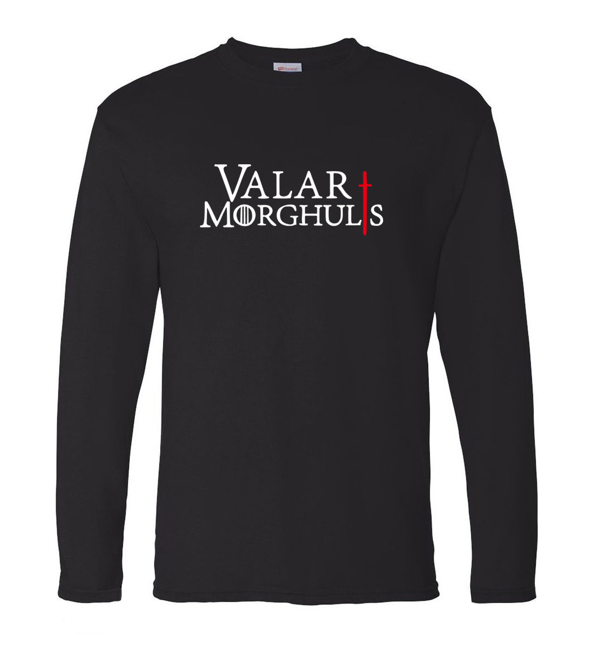 Game Of Thrones Valar Morghulis men's long sleeve T-shirt 2019 spring 100% cotton The Song of Fire and Ice hip hop man t shirt image