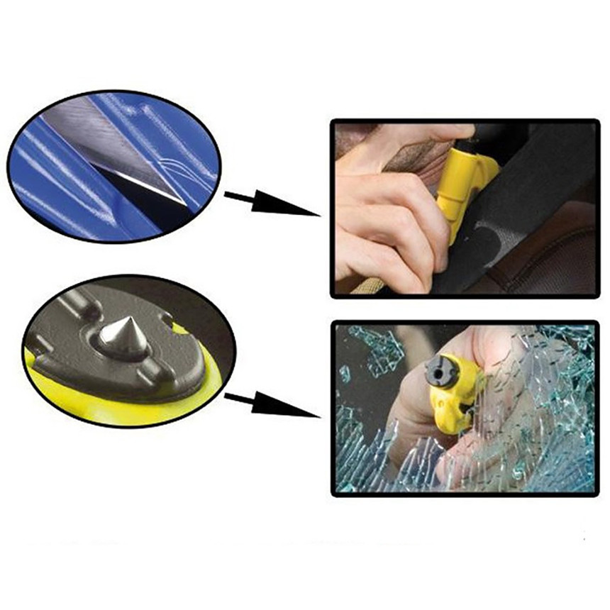 New Function Car-styling Car Auto Emergency Mini Safety Hammer Belt Window Breaker Cutter Escape Tool