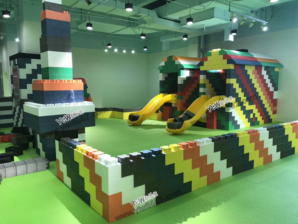 YLW indoor playground block building parks with ball pool YLW-EPP0929 customized design safety environmental epp soft play building block children indoor playground for sale ylw epp0301