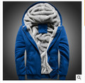 With thick coat more men's hooded fleece adds the velvet free shipping