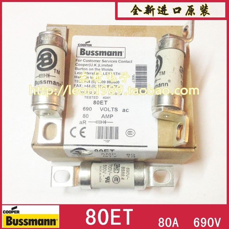 US BUSSMANN fuse BS88: 4 fuse fuse 80ET 80A 690V 80ETaUS BUSSMANN fuse BS88: 4 fuse fuse 80ET 80A 690V 80ETa