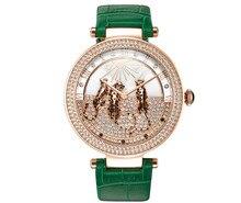Прекрасный леопарды оформлен женщины кристаллы часы davena 2015 новый дизайнер импортные кварцевые платье наручные часы большой размер reloj wa146
