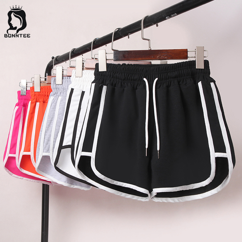 Plus-size Summer Women Short Womens Striped Elastic Waist Loose Bodybuilding Female Shorts Females Trendy Breathable Students