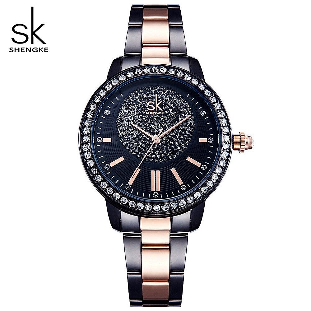 SHENGKE Fuchs Frauen Uhr Frauen Quarz Uhren Rose Gold Luxury Brand Fashion Casual Damen Einfache Weiblich Relogio Feminino