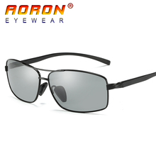 Aoron Brand Men Sunglasses Polarized Photochromic Eyewear Anti Glare Goggles Accessories HD Discolour Lens Glasses A2458-11