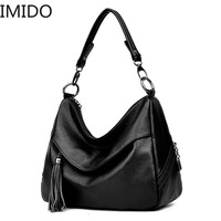 Large Leather Tote Bag Women Shoulder Bags Women Handbags 2018 Tassel Hobo Luxury Handbags Women Bags Designer High Quality Sac