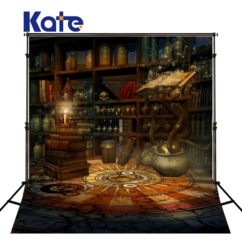 Kate 5x7ft Halloween Backdrop School Bookcase Kids Bookshelf Backdrop Hintergrund Fotografie Newborn Haus for Photo Studio