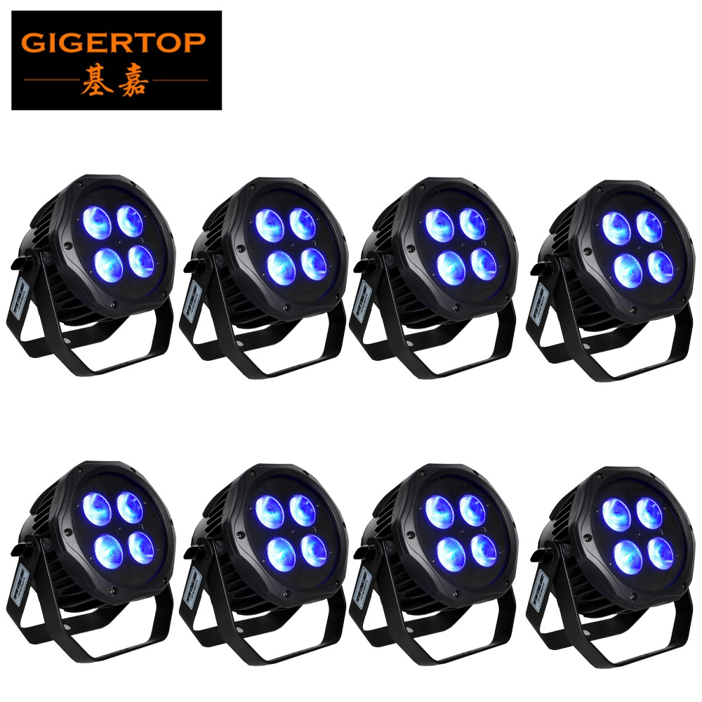 Discount Price 8 Unit 4x18W 6IN1 RGBWA UV Color Battery Power Wireless LED Water Proof Par Battery 7-8 Hours Work Mini Compacted