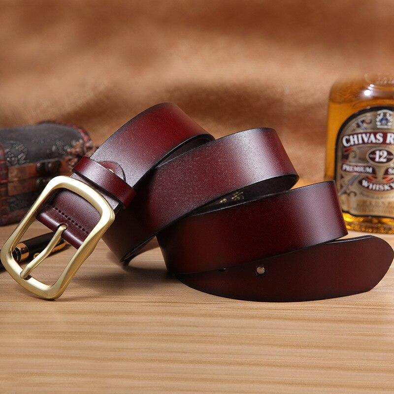 a9b36eeef84 Lujo Superior de Genuino la Vaqueros de Moda de Piel La Calidad la de  diversión Cinturón Hombres ...