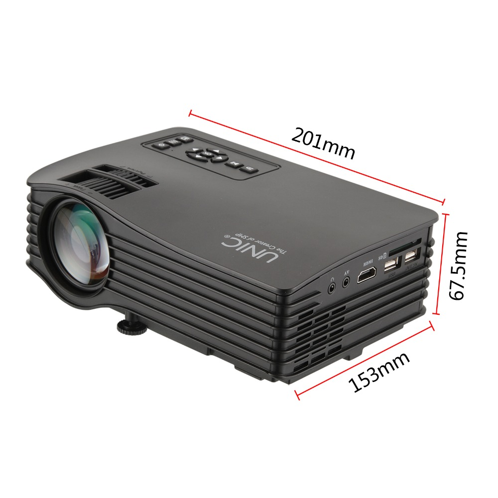 Nuevo tipo unic uc36 au/eu/uk/ee.uu. wifi dlp mini pico láser led proyector de cine en casa usb hdmi-negro
