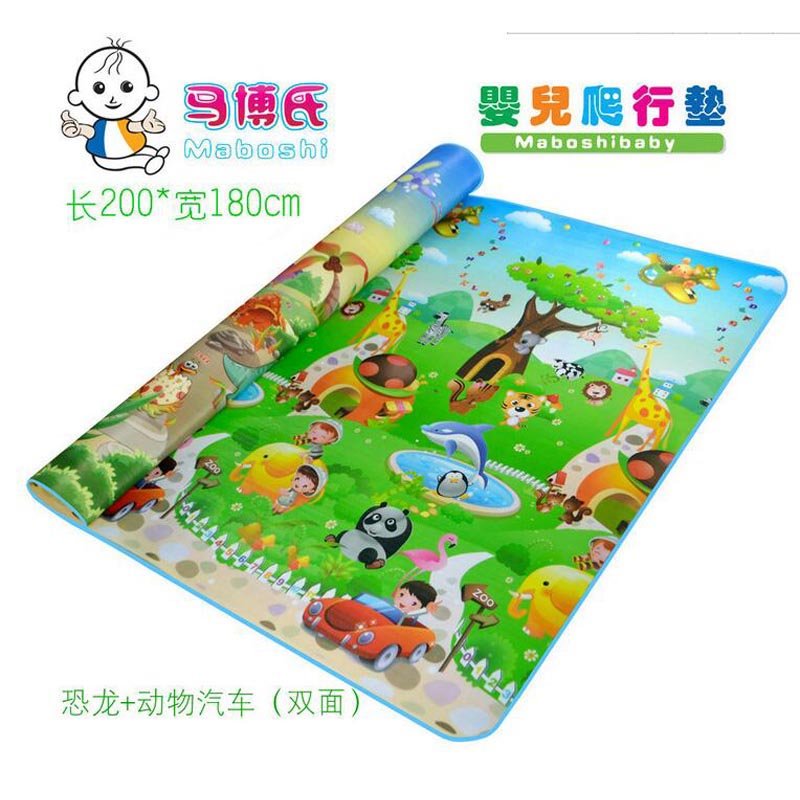 Large Household Foam Mats Baby Crawling Mat Children's Bedroom Living Room Floor Carpet Cushion Liangdian Compartment