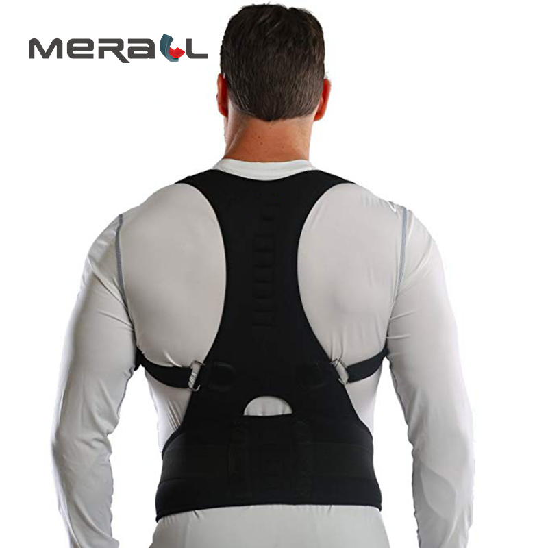 Sports & Entertainment Clever 10 Magnets Posture Corrector Back Brace Exercises To Improve Posture Products Orthopedic Back Support Vest Belt Black/white