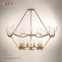 Pássaro de vidro único lustre iluminação moderna luzes lustre de ouro lâmpada do teto para sala de estar Do lobby do Hotel iluminação|gold chandelier lights|gold chandelier|chandelier lighting modern -