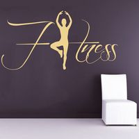 DCTAL Gym Name Sticker Fitness Crossfit Decal Body building Posters Vinyl Wall Decals Parede Decor Mural Gym Sticker