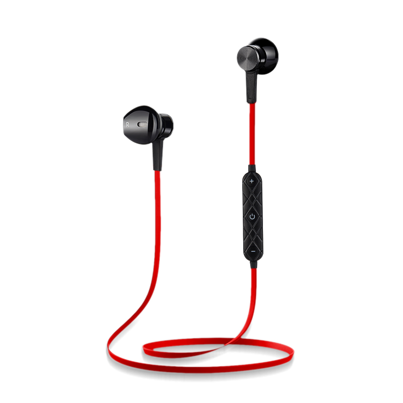 Sports Wireless Bluetooth Earphones V4.1 Stereo Running Headset Magnet Noise Reduction Earbuds with Mic for xiaomi Mobile Phone