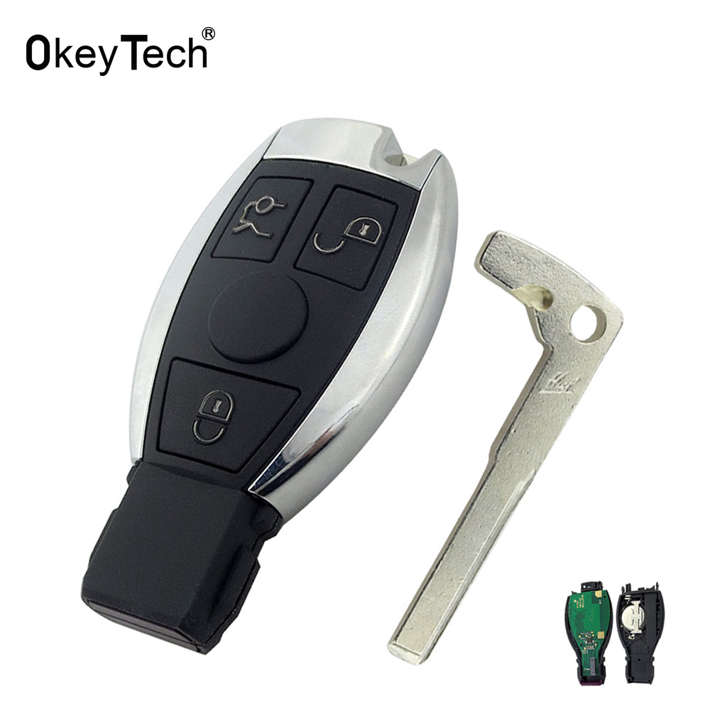 US $15 36 19% OFF|OkeyTech For Mercedes Benz Key 433MHz 3 Button Remote  Control Car Smart Key Fob Replacement For Mercedes Benz Year 2000+  NEC&BGA-in