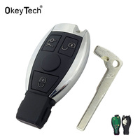 OkeyTech For Mercedes Benz Key 433MHz 3 Button Remote Control Car Smart Key Fob Replacement For