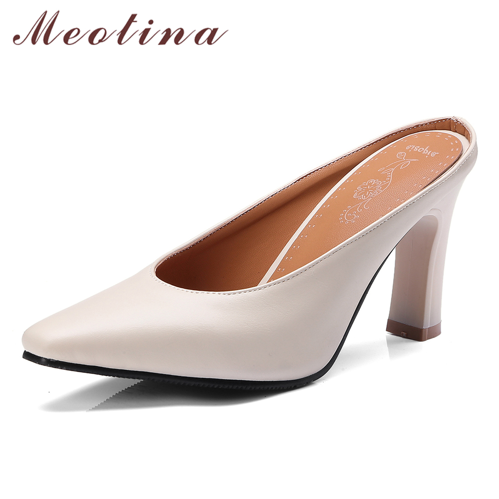 Meotina High Heels Women Pumps Elegant Thick High Heels Mules Shoes Fashion Square Toe Shoes Ladies Yellow Green Large Size 3-12Meotina High Heels Women Pumps Elegant Thick High Heels Mules Shoes Fashion Square Toe Shoes Ladies Yellow Green Large Size 3-12