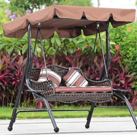 195x125cm Waterproof Swing Chair Top Cover Awning Outdoor Garden Canopy Replacement Courtyard Swing Chair Hammocks Shade Sails