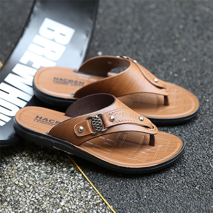 Summer Beach Slippers Comfortable Massage Flip Flops Shoes Sandals Me Slipper outdoor Flip-flops High Quality MAY 22