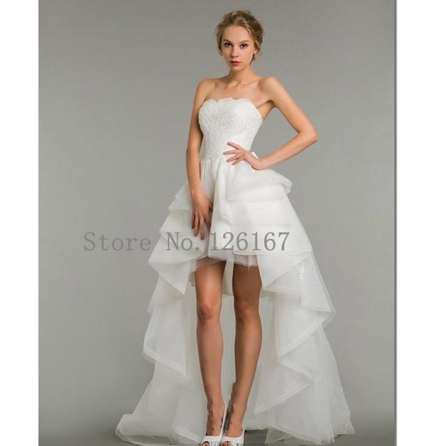 Suosikki 2017 High Low Short Front Long Back Beach Wedding: Aliexpress.com : Buy Front Short Long Back White Wedding