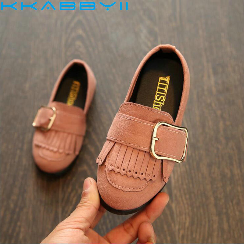Spring Summer Pu Leather Princess Shoes Female Children S Single Wedding Breathable Tel Flat Kids