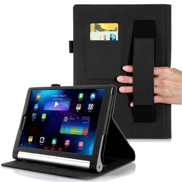 big sale 7c5fa a1948 US $17.8 |Luxury flip leather case for Lenovo Yoga Tab 2 1050F Tablet Cover  10.1 inch Protective Case for Lenovo Tablet 2 1050L stand case-in Tablets  ...