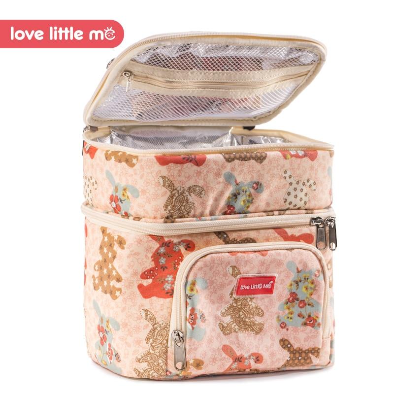 love little me brand portable high capacity insulation bags breast milk fresh-keeping package feeding bottle mummy bag #L-NB01