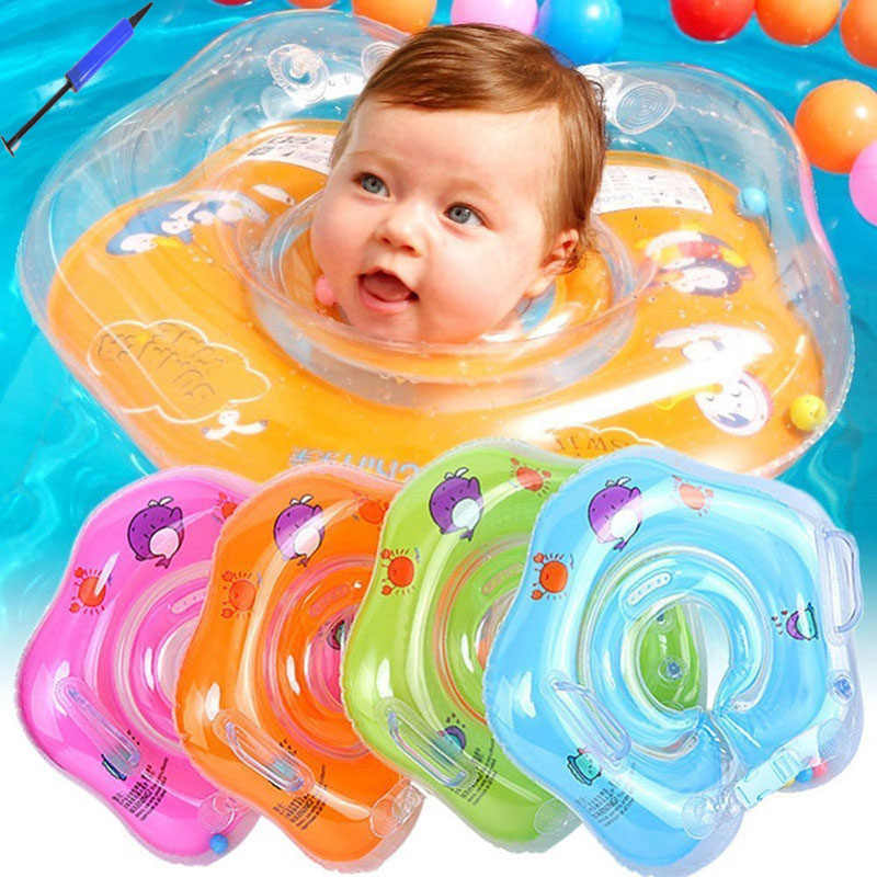 Swimming Pool Baby Ring Neck Home Thick Life Buoy Trainer Float Zwemband Zwembad Kids Inflatable Piscina Bebes Juego Bouee