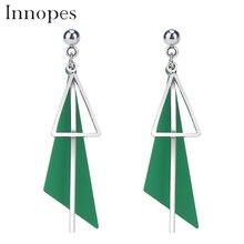 Innopes Korean geometric earrings asymmetric triangle stud earring push-back fashion gift for women