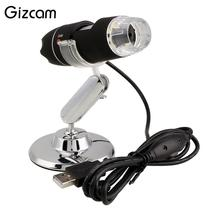 Big sale Gizcam 2MP 1000X 8LED USB Digital Microscope Zoom Video Camera Magnifier +Stand