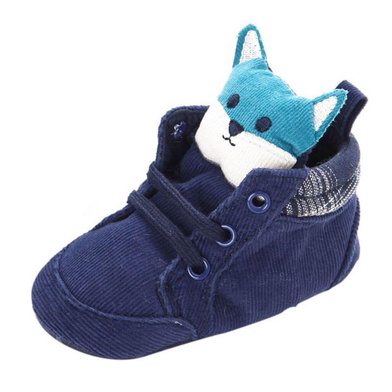 Besorgt Infant Baby Jungen Mädchen Hohe Ferse Tier Casual Baumwolle Schuhe 1-3 Jahr Baby Junge Schuhe Neue