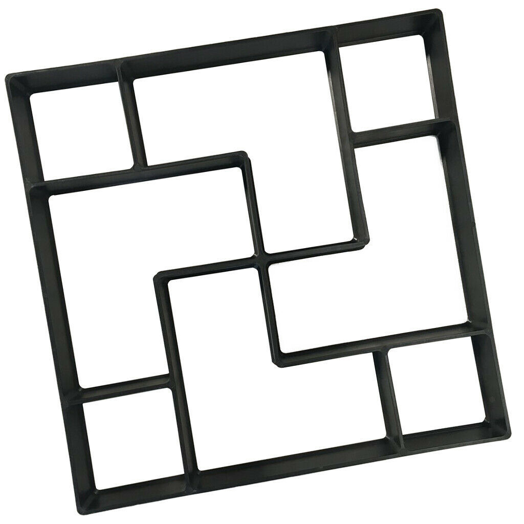 Image 4 - Concrete Molds  New European and American Cement Floor Tiles DIY Paving Lawn Low Mold for garden molde para cemento suelo-in Paving Molds from Home & Garden