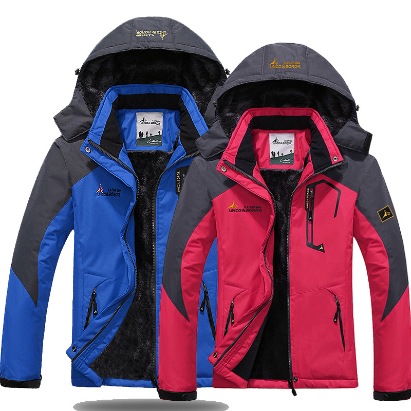 Plus Size M-6XL Jackets Men Women Top Hooded Hiking Jacket Coat Thick   Parka   Men Outwear Windbreaker Winter Male Clothing Clothes