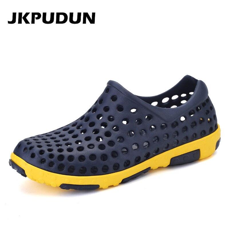 Jkpudun verano hombres zapatos de agua playa de plástico