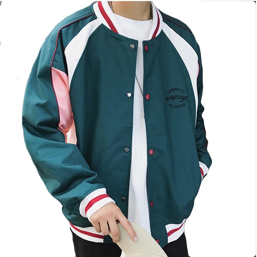 Gray Patchwork Raie Mode Baseball Vert Hiphop Hommes Cool Revers Manteau Veste Couleur green Bomber Vintage Vestes De Pilote Bloc 0XwPnk8ON