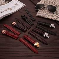 Großhandel 50 teile/los Uhren Strap Genuine Kalb Leder Armband Für Frauen 12 16 18 20 22 24 Hohe qualität Deployant schließe Schnalle