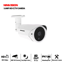 NINIVISION 5MP AHD Camera With SONY IMX335 H.265 Bullet Security Video Surveillance Camera 3.6mm Lens 6 array Infrared Led