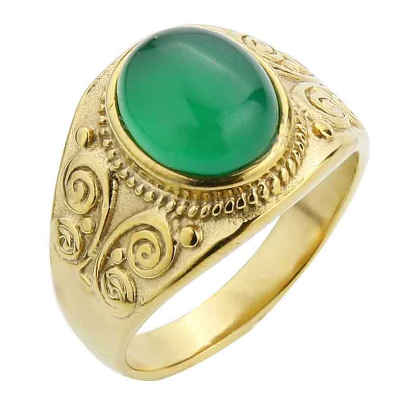 Gold-Green Agate